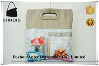 Fashion cheap pu printed beach bags wholesale only 3 one piece