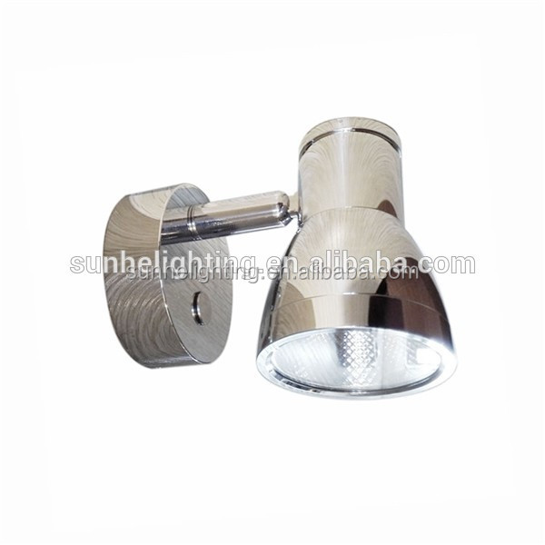 LED Reading light 10-30V Glass Globe Chrome Plated Aluminium Boat Caravan