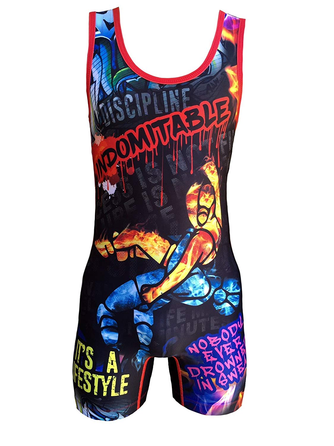 TRI-TITANS Level Up 9000 Wrestling Singlet Mens and Youth sizes