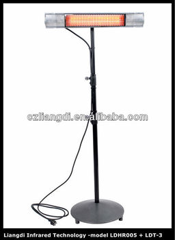 Infrared Electric Free Standing Outdoor Patio Umbrella Heaters