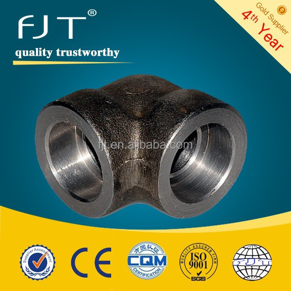 forged pipe fittings threaded 90 deg. elbow
