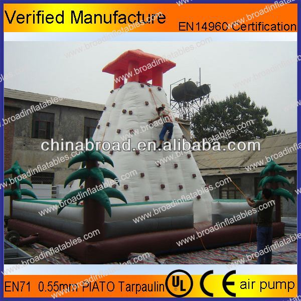 Durable climbing,inflatable wall, large inflatable games with safety belt