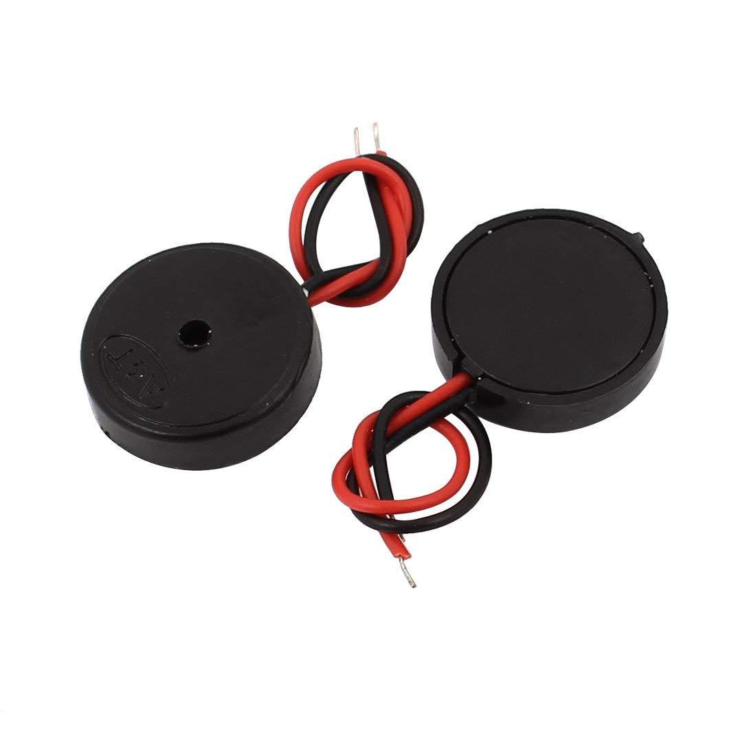 Aexit 2Pcs DC 30V 80dB Sound Passive Electronic Buzzer Alarm 14mm x 4mm Black