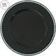 Wedding decoration black beaded charger plate plastic