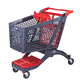 New Design Retail Grocery Store Plastic Supermarket Shopping Cart Shopping Trolley