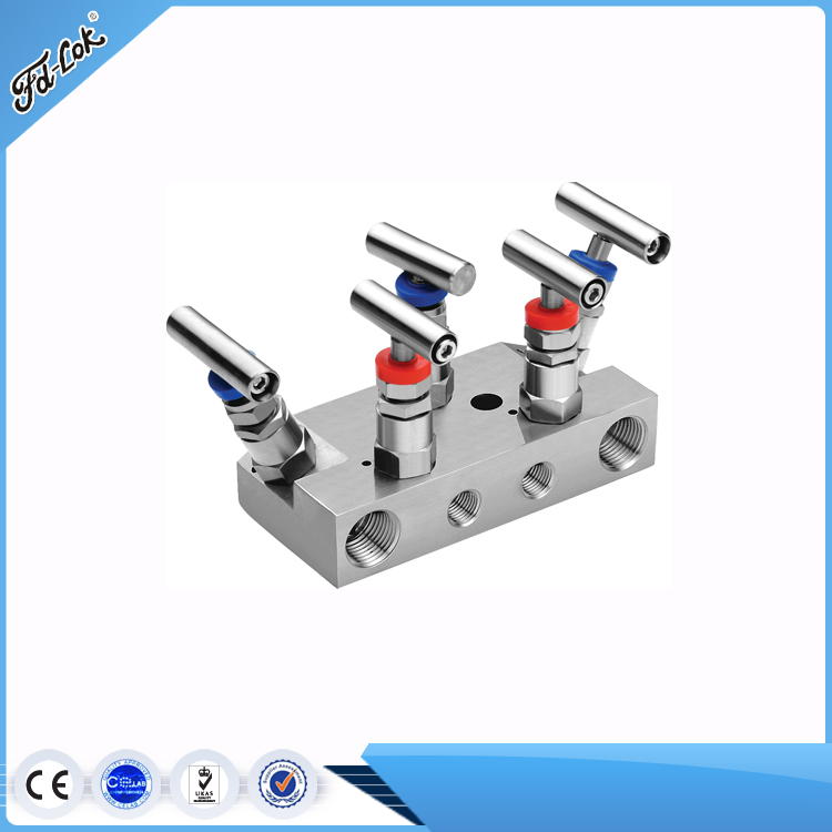 Stainless Steel Hydraulics Gas Control 5 Way Valve Group
