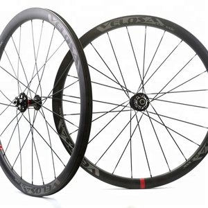 Full Toray Carbon 700C Road Cycle Cross 38mm Clincher Disc Brake Carbon wheel