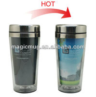 Advertisement gift 450ml double wall travel mug stainless
