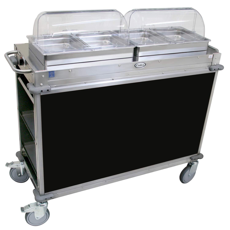 """Mobile Hot Buffet Cart Color: Black, Size: 49.5"""" H x 52.75"""" W x 20.75"""" D"""