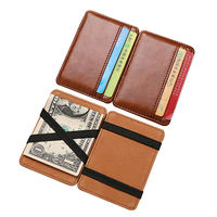 New Luxury credit card holder magic wallets leather men