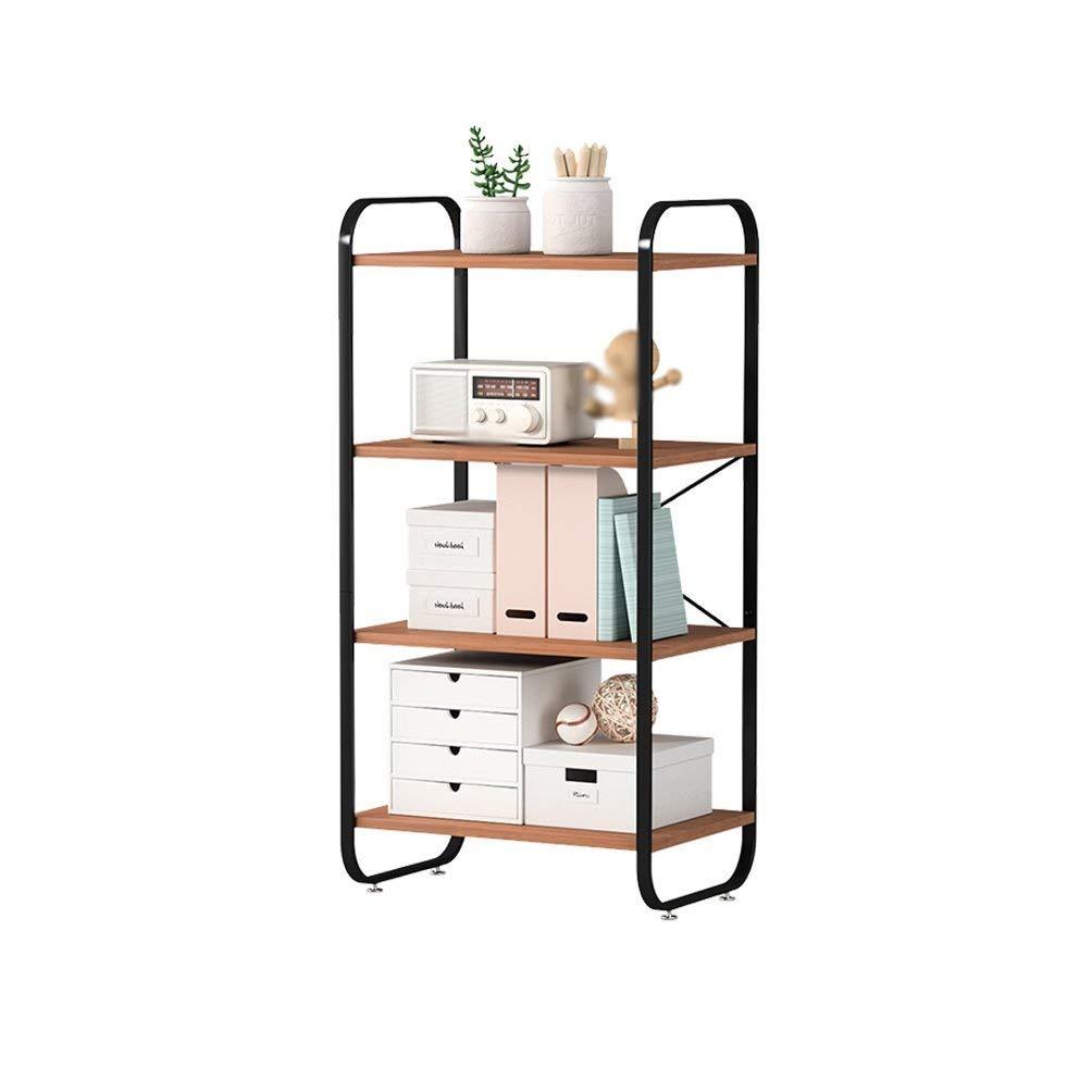 LQQGXL Storage and organization Home Kitchen Bathroom Rectangular Storage Rack Economy Metal + Wooden Square Tube Floor Microwave Rack 48x33x96cm