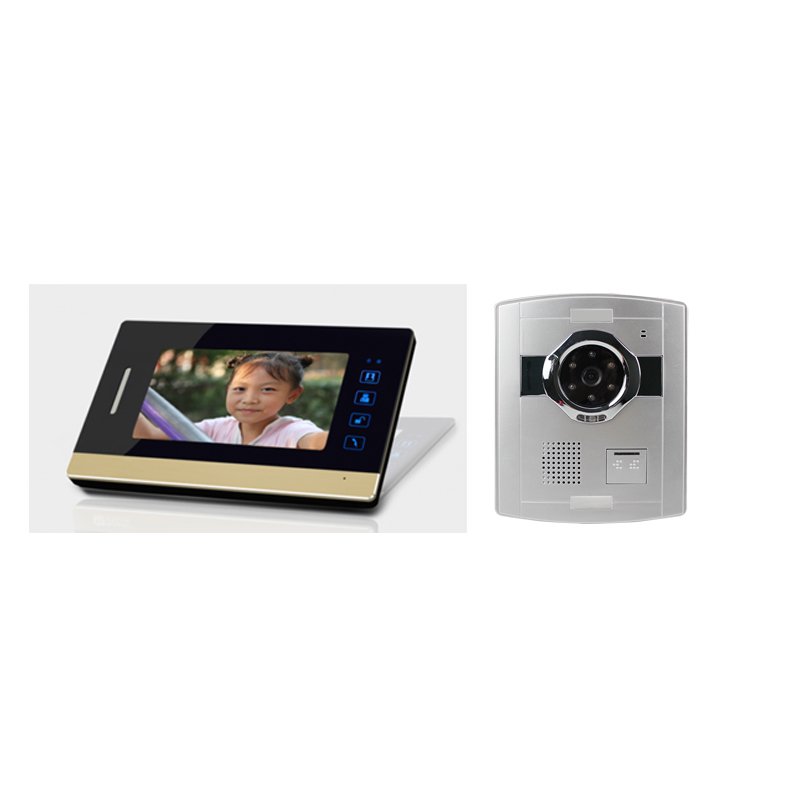 "7"" TFT digital screen button operation handsfree function talk with outdoor camera video door phone intercom"