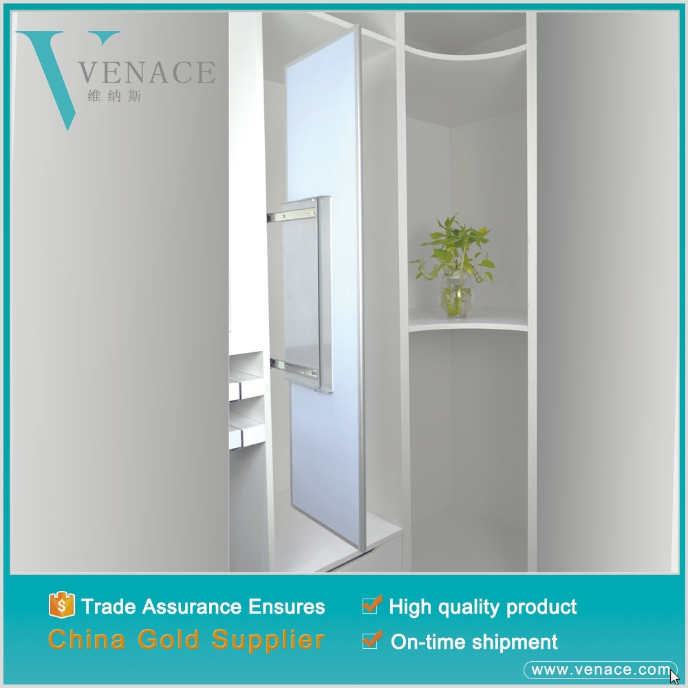 Frame mirror aluminum coated wardrobe dressing mirror and hanging make up closet mirror