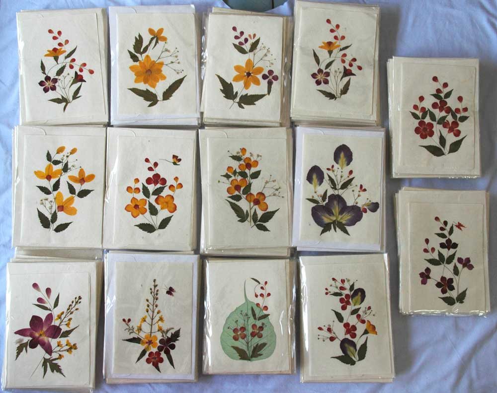Real Pressed Flowers Handmade Blank Note Cards 5x7inches Buy