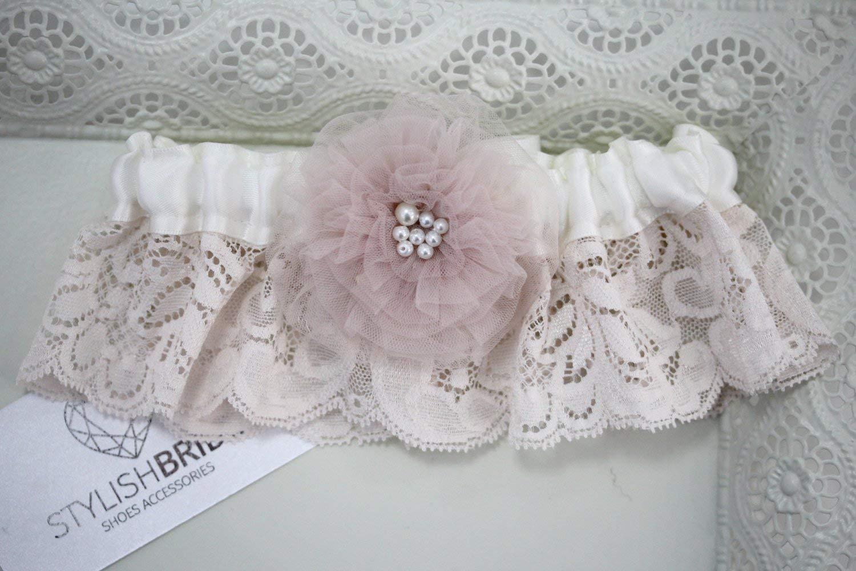 Wedding garter, Tulle Blush Wedding Garter, Bridal Garter, Blush Garter, Bridal Garters, Blush Tulle Bridal Garter, Tulle Bridal Garter