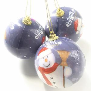 Custom Design Christmas Ornaments Bulk Plain Clear Glass Ball