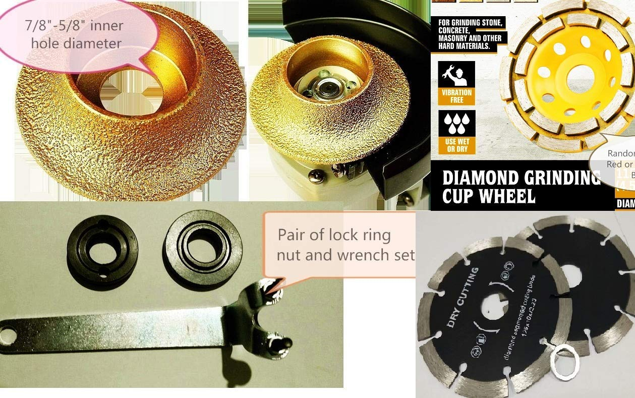 "3//8/"" Diamond Grinding /& Shaping Profile Wheel Demi Radius Bull nose granite"