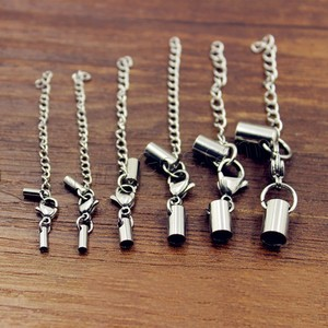 Wholesale stainless steel claw cord lobster clasp with end cap