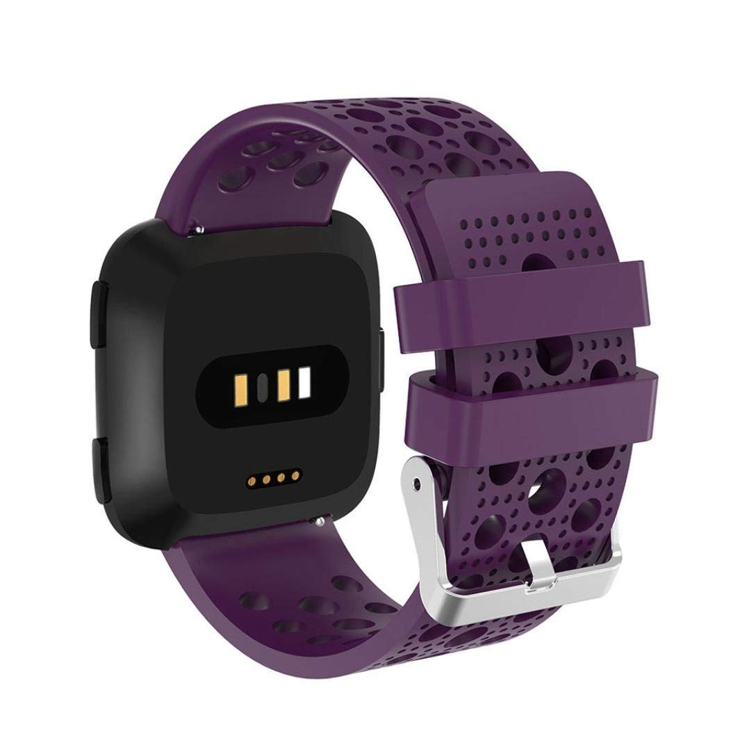 Dreamyth For Fitbit Versa Replacement Soft Silicagel Sports Watch Band Strap