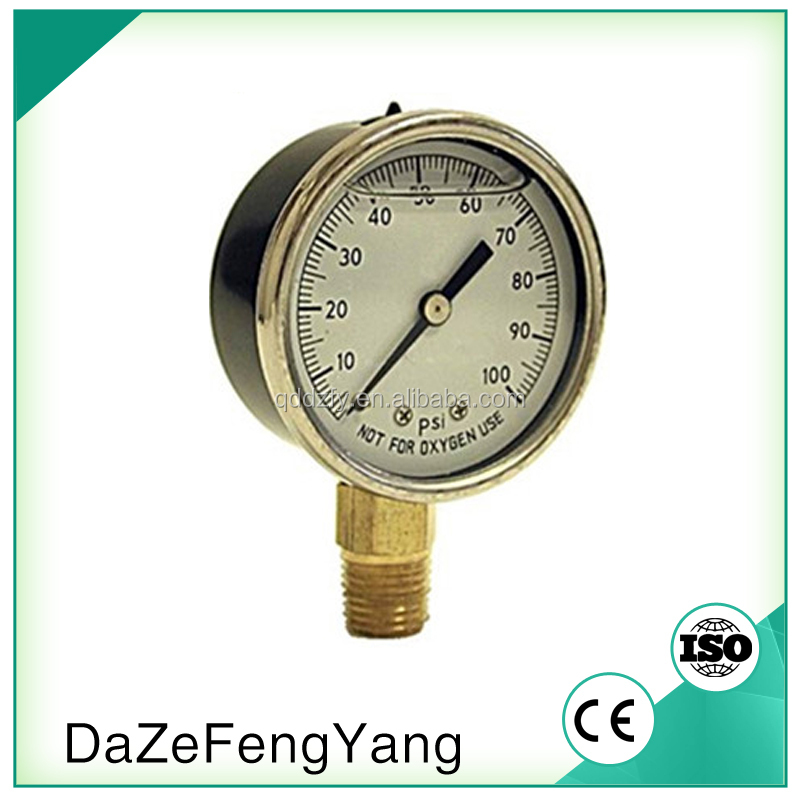 Alibaba China Laser Welding Glycering Filled Pressure Gauge