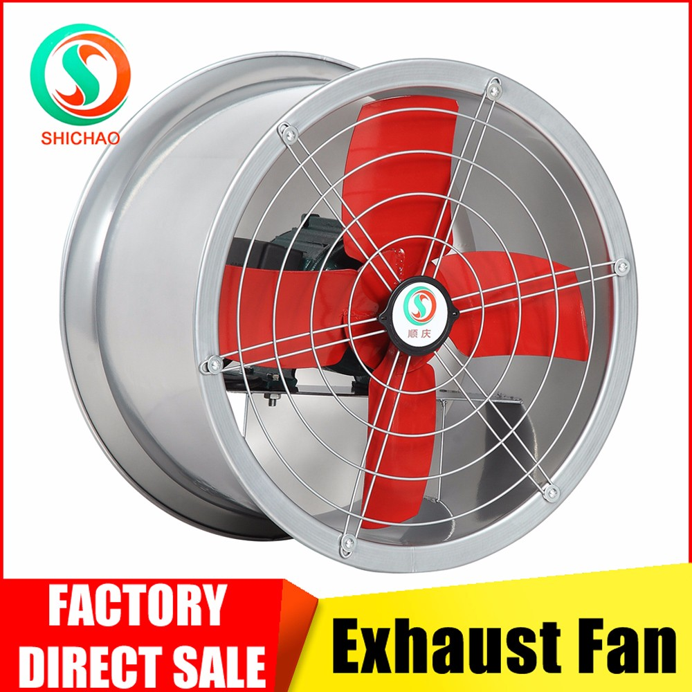 Steel tube ventilator exhaust fan for greenhouse