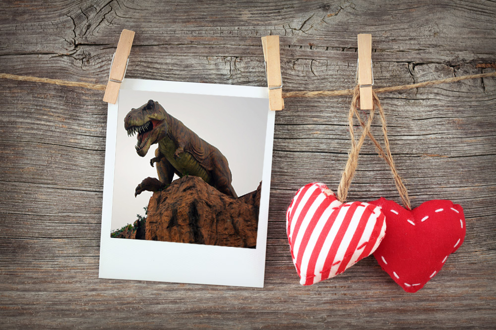 Interior decoration dinosaur frame picture