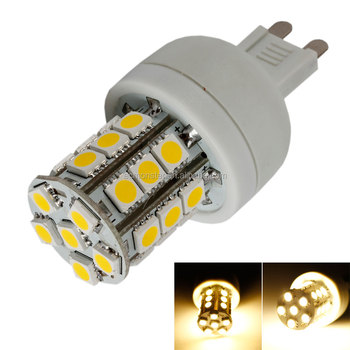 Clearance stock in US warehouse G9 3W 110V 27*5050SMD Warm White LED Corn Light Bulb