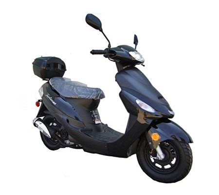 SMART DEALSNOW Brings Brand New 50cc Gas Fully Automatic Street Legal Scooter TaoTao ATM50-A1 - Sporty Black