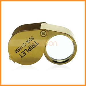 Jeweler Eye Loupe 30X 21 mm Glass Lens Magnifier Magnifying