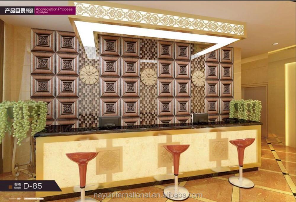 Cucina moderna disegni in pelle pvc pannello di rivestimento della ...