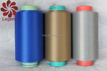 100% polyester textured yarn DTY semi-dull from 200D in different color