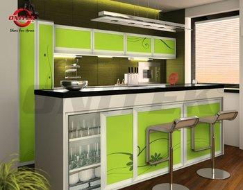 Sliding kitchen cabinet buy aluminium kitchen cabinet for Model kitchen set aluminium