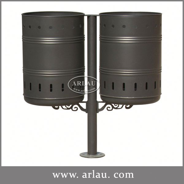 Arlau Garden Outdoor Furniture Turkey,Stainless Steel Fireproof Dustbin,Decorative Outdoor Garbage Can
