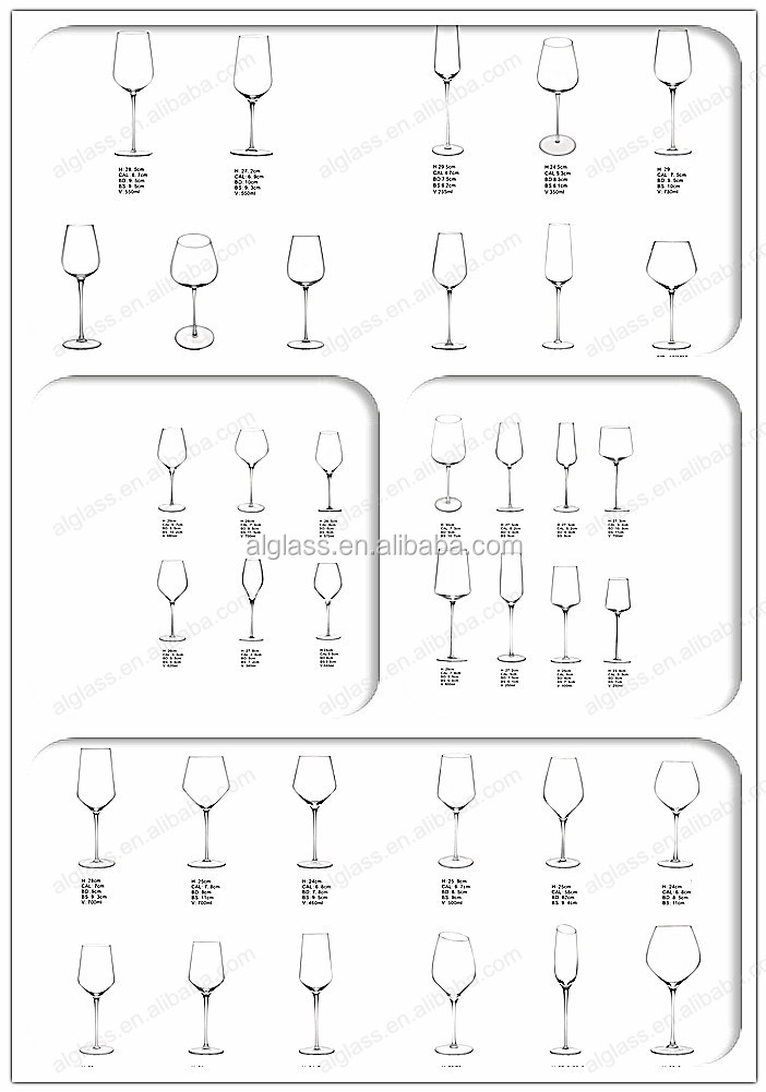 Bohemia Crystal Standard Size Of Drinking Wine Glass