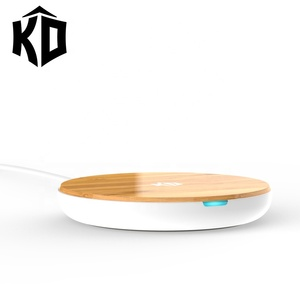 2019 hot sales new bamboo wireless charging pad 5w fast 7.5w 10w qi wireless charger for mobile phone samsung iphone factory