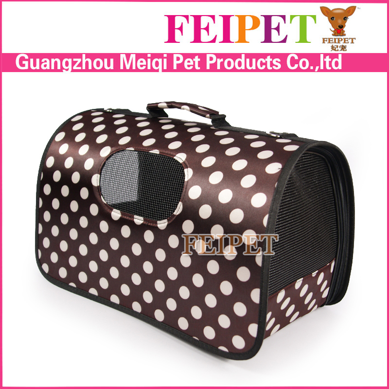 Best design cool cute cheap dog bag carrier dot print cardboard pet carriers wholesale