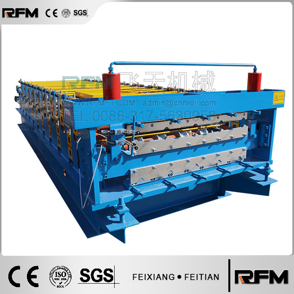 Double layer steel roof and wall sheet roller machine/roof panel step tile roll forming machine