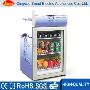 Samd Wholesale Price 52L Mini Showcase Single Glass Door Cooler Refrigerator With Lamp
