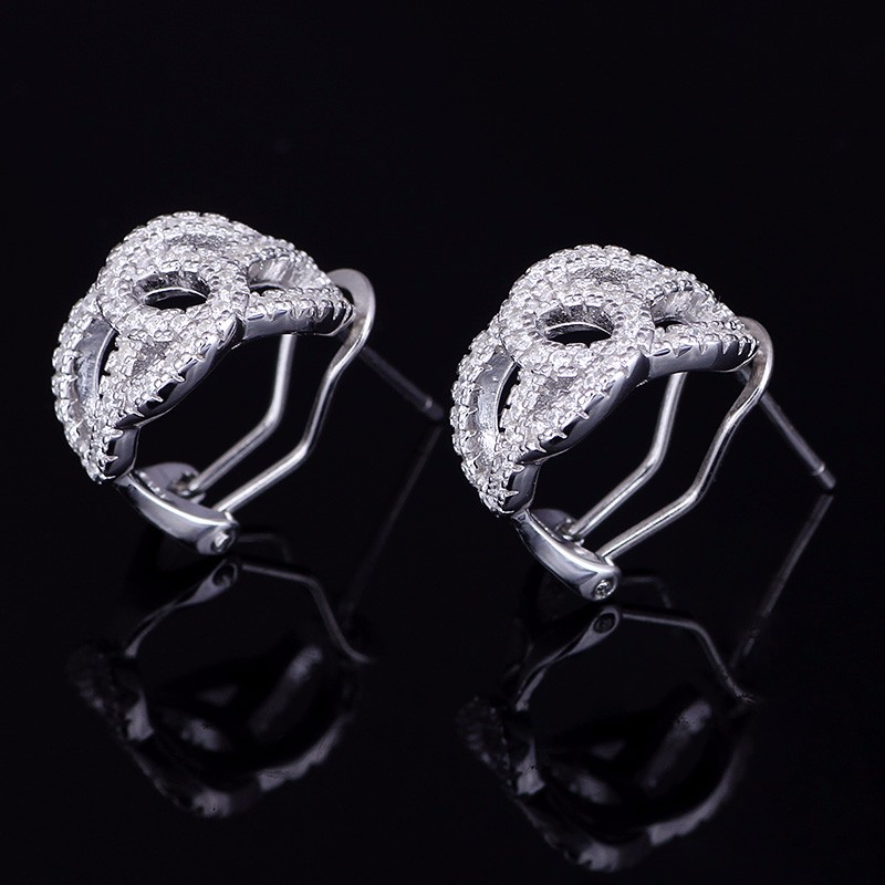 Earrings Fashion Jewelry 100% Quality Free Antiallergic Real Black Gold Rhinestone Geometry Stud Earrings Jewelry Gw Convenient To Cook