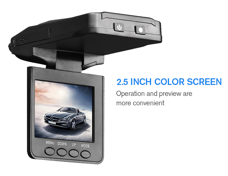 Cheapest 2.5 inch loop recording motion detection car dvr camera black box