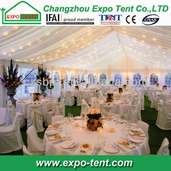 large family tents with inside decoration for wedding