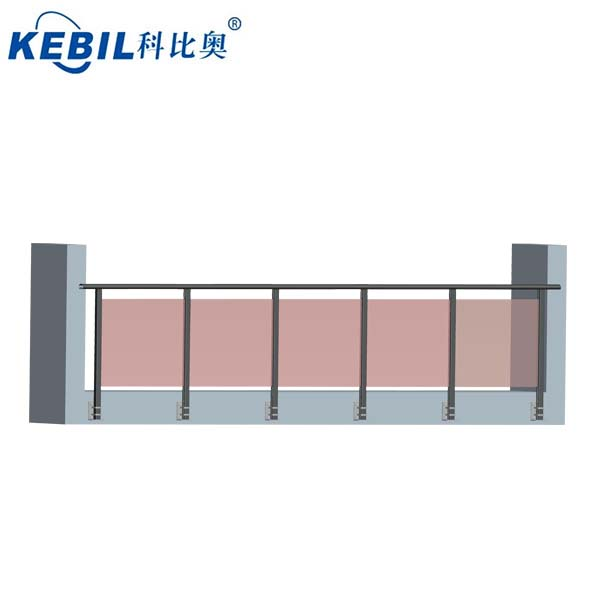 balcony aluminum glass railings / u channel base shoe for