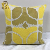 Moroccan Hot selling fashion irregular plain shaped gold grey simple embroidery cushion cover
