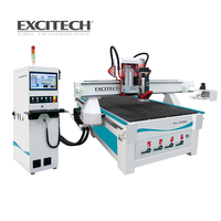 Wood CNC ATC cutting milling router with vertical drilling unit