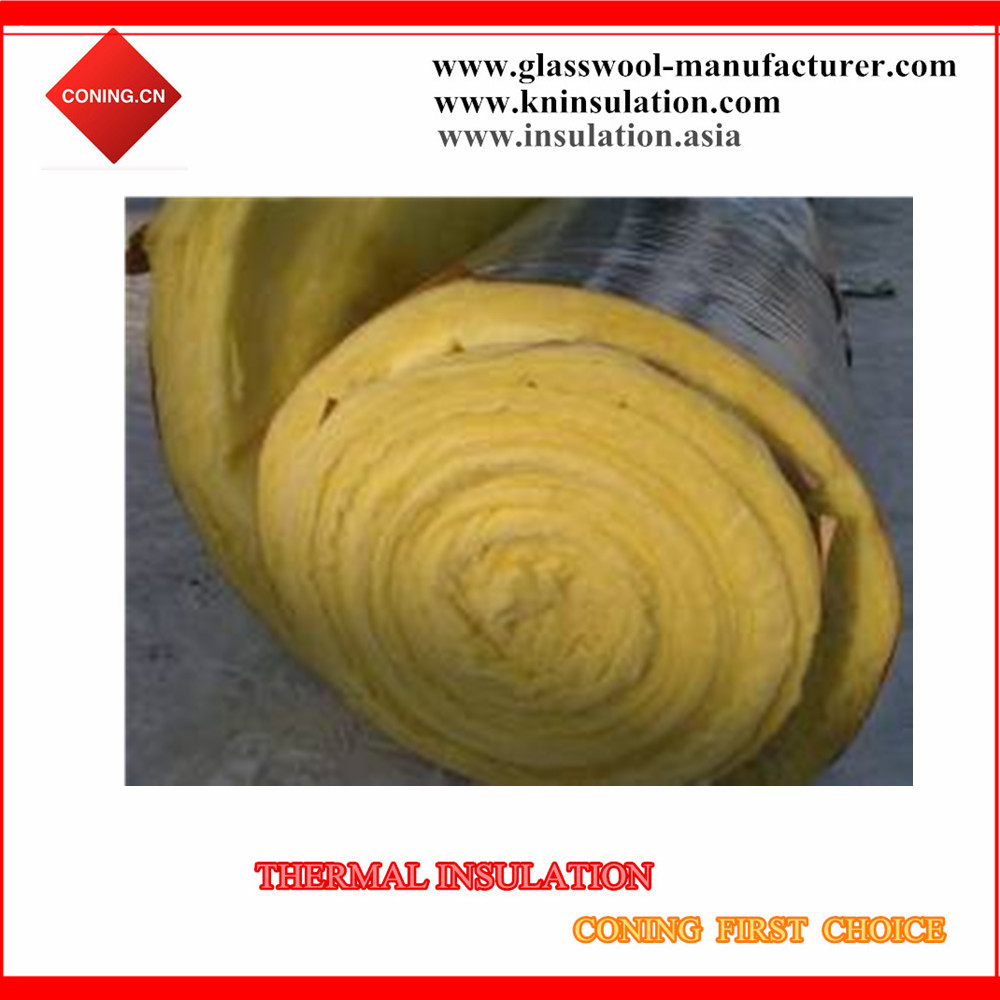 Thermal fiber glasswool blanket/board with aluminum foil