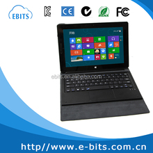 Portable magnetic detachable leather cover 10.1 inch laptop keyboard with touchpad