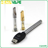 Slim Co2 extract refillable glass tank cartridge/0.5ml 1.0ml metal glass clearomizer/ co2 hemp oil cbd clearomizer