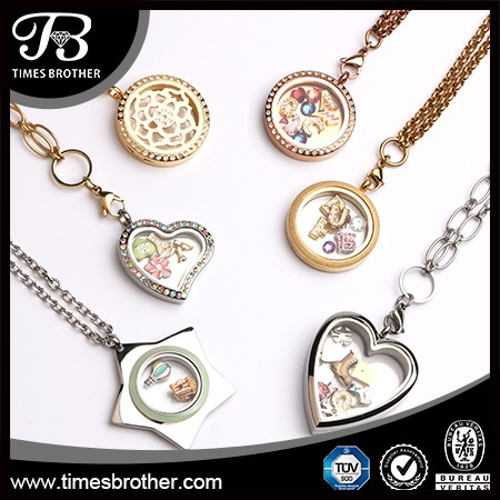 2018 new design stainless steel locket with floating charm buy