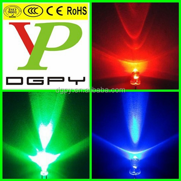 3mm round far red led pure green led royal blue led diodes ( CE & RoHS Compliant )
