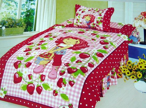 Online Get Cheap Strawberry Shortcake Twin Bedding Set